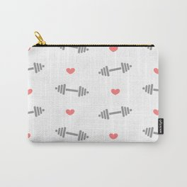 cute dumbbell pattern with hearts Carry-All Pouch