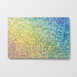 Rainbow Ombre Glitter Metal Print
