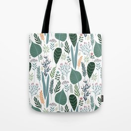 Early Spring Thaw In The Flower Garden Pattern Tote Bag