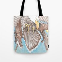guardians Tote Bags featuring Guardians by Connie Campbell