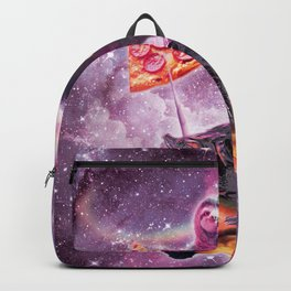 Space Pizza Sloth On Turtle Unicorn On Waffles Backpack