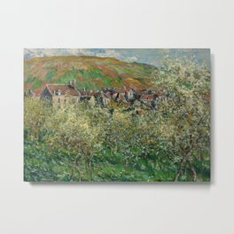 Plum Trees in Blossom Metal Print
