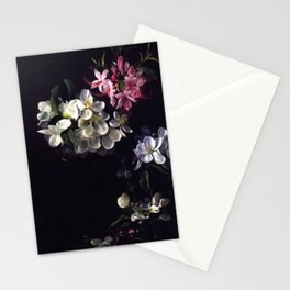 Sketch Of Apple Blossoms With May Flowers 1873 By David Johnson | Reproduction | Romanticism Landsca Stationery Cards