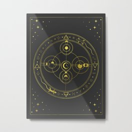 Alchemic Theme Metal Print