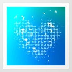 Heart2 Blue Art Print