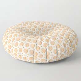 Citrus Orange Slice Pattern Floor Pillow