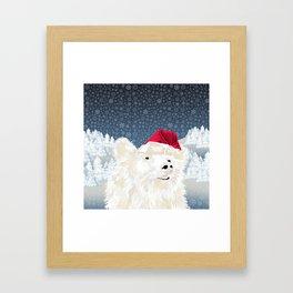 Beary Merry Christmas Framed Art Print