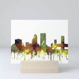 Jacksonville, Florida Skyline SG - Safari Buff Mini Art Print