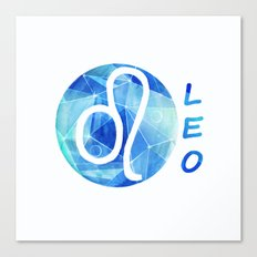 Leo. lion. Sign of the zodiac. Canvas Print