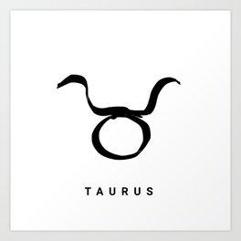 KIROVAIR ASTROLOGICAL SIGNS TAURUS #astrology #kirovair #symbol #minimalism #horoscope #stier #home Art Print