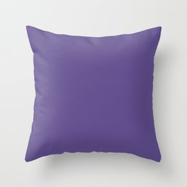 Ultra Violet Solid Color Throw Pillow