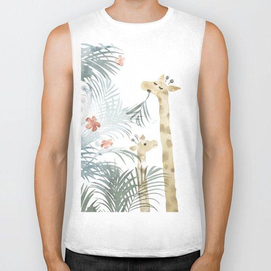 Two Giraffes Biker Tank