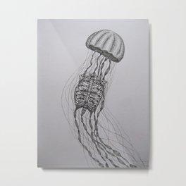Jellyfrib Metal Print
