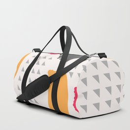 Modern triangles and happy colors Duffle Bag