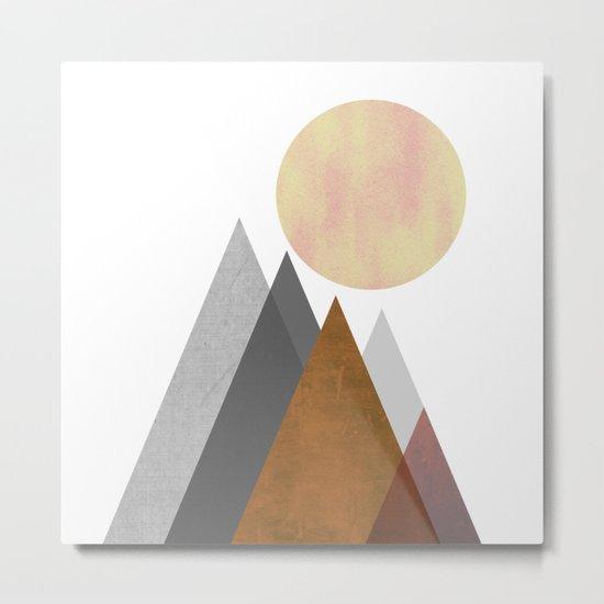The Gathering, Geometric Landscape Art Metal Print