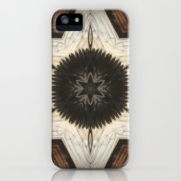 Quartz and Feather // Magical Visionary Shamanic Art Crystal Grid Energy Healing Peace Sacred Star iPhone Case