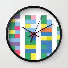 Color Code Blocks Wall Clock