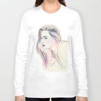 cara Long Sleeve T-shirts featuring Cara by Guadalupe Jiménez