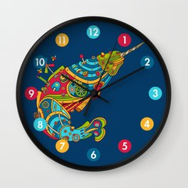 Narwhal, cool art from the AlphaPod Collection Wall Clock