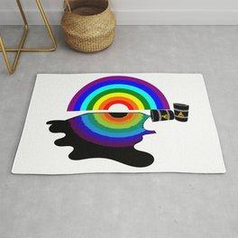 Oil slick rainbow Rug