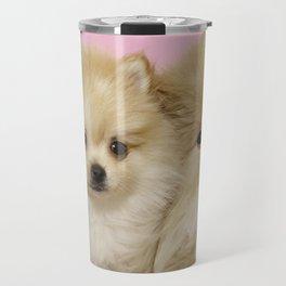 Pink Pomeranian Brothers Travel Mug