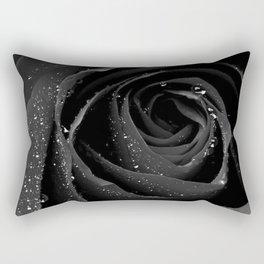 Black Rose Rectangular Pillow