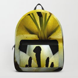 Wonderful Flower yellow and black Backpack