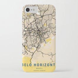 Belo Horizonte Yellow City Map iPhone Case
