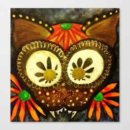 Dia de los Muertos Meow Cat Canvas Print