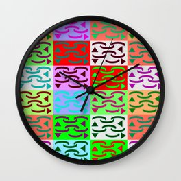 Patternless-squares-pattern Wall Clock