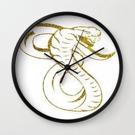Awesome King Cobra Snake Wall Clock