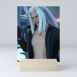 [Xedas] - Half Elf - Half Vampire - Sciense Fiction Fantasy - 3D Render Mini Art Print