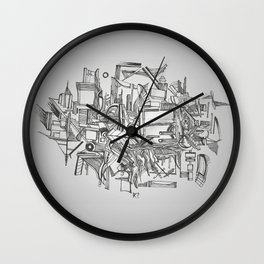Simetria Assimétrica Wall Clock
