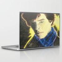 johnlock Laptop & iPad Skins featuring Sherlock by The Expression Studio