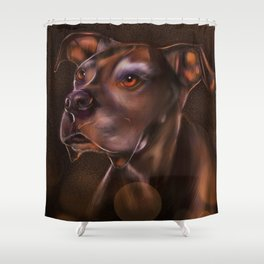 Floppy Ears Dog Shower Curtain