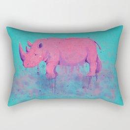 Save the Rhinos Rectangular Pillow