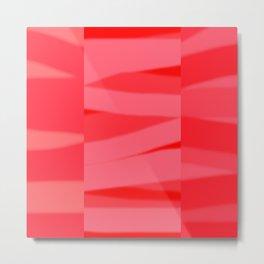Red Slate Metal Print