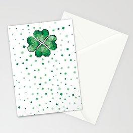 Geometric shamrock Stationery Cards