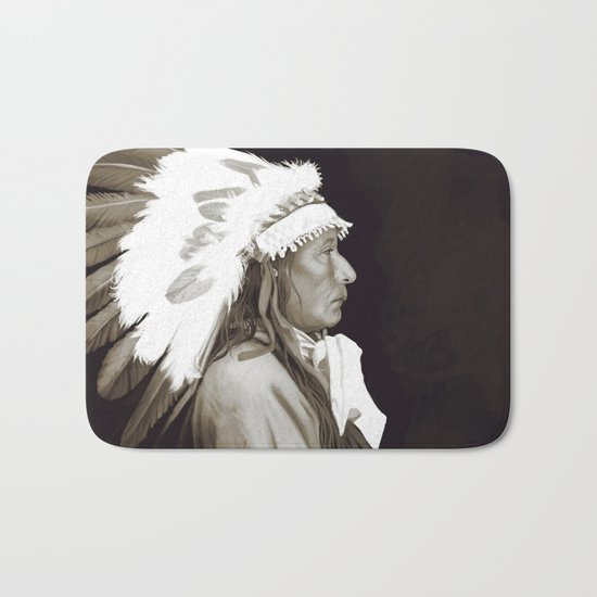 Native American I. Digital painting Bath Mat