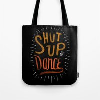dance Tote Bags featuring Dance by skitchism