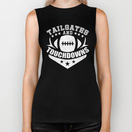 Tailgates And Touchdowns Biker Tank