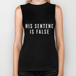 This Sentence Is False Liar Paradox Fun Brain Teaser Riddle Biker Tank
