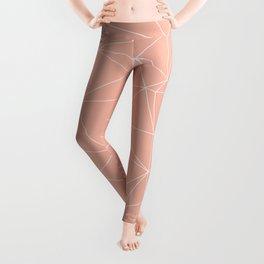 Millennial Pink Geometric Minimalist Pattern Leggings