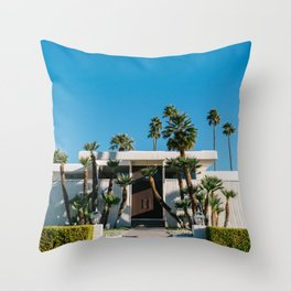 Palm Springs Architecture Throw Pillow