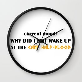 Camp Half-Blood (Percy Jackson) Wall Clock
