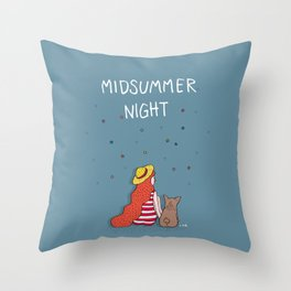 A MIDSUMMER NIGHT Throw Pillow