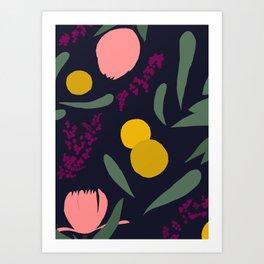 Abtract Garden by Night Art Print