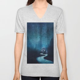 Alone In A Ghost Town Unisex V-Neck