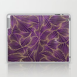 Tangles Violet and Gold Laptop & iPad Skin