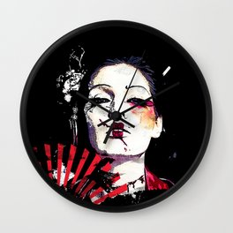Japanese Creepy Geisha Wall Clock